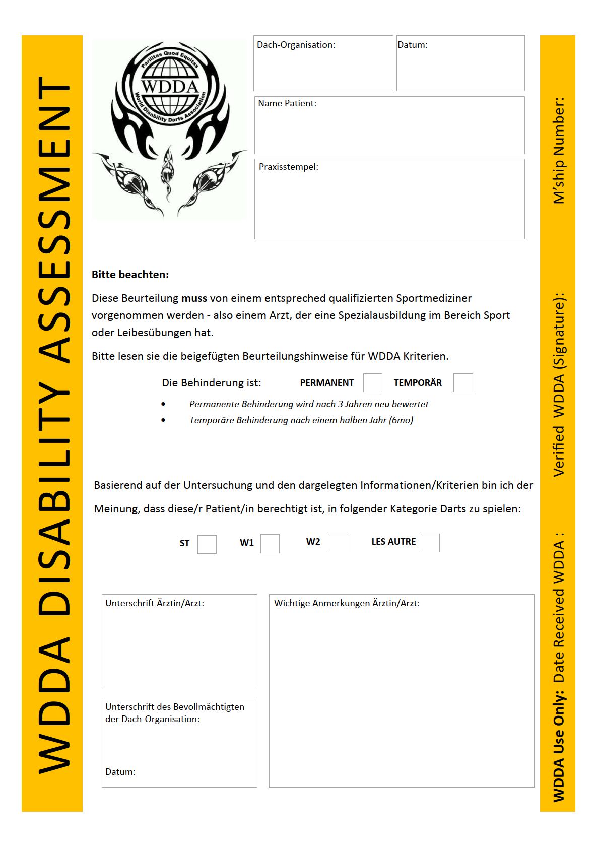 WDDA darts formular seite 1